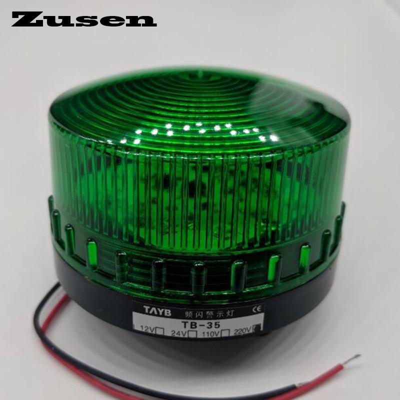 Zusen TB35 220V green red yellow led Security Alarm Strobe Signal Warning Light LED Lamp small