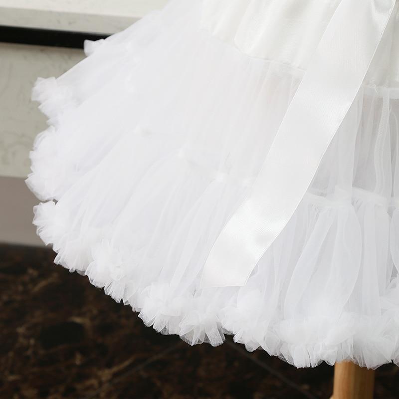 White Short Women Tulle Halloween Petticoat Crinoline Vintage Wedding Bridal Petticoat Underskirt Rockabilly Tutu