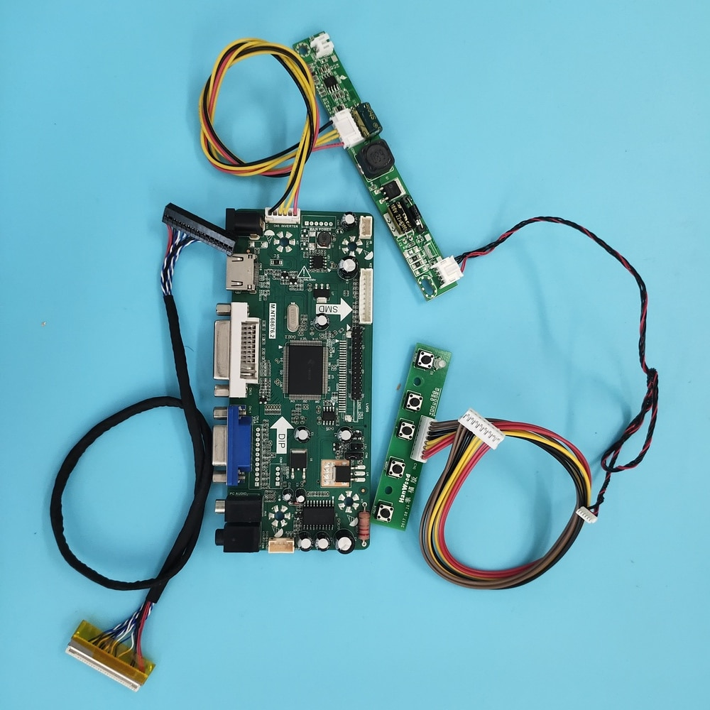 عدة ل LTN141AT12-L01/001/G01/M01 M.NT68676 رصد LCD 30pin تحكم مجلس الصوت 1280x800 HDMI + DVI + VGA لوحة شاشة LED