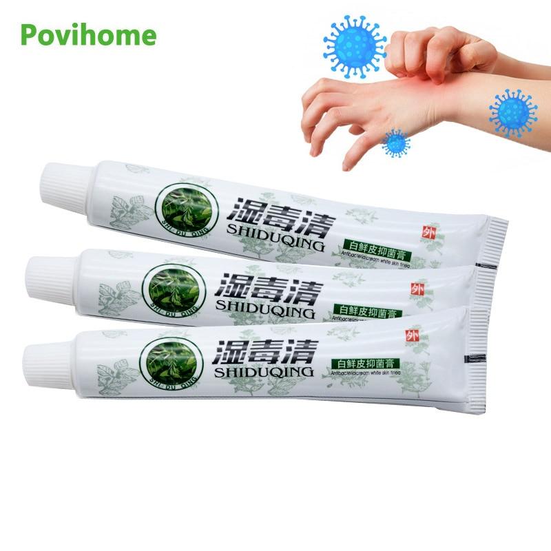 3Pcs Herbal Extract Antibacterial Antipruritic Ointment Dermatitis Eczema Psoriasis Treatment Cream Medical Plaster Skin Care