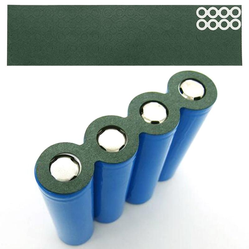 100Pcs Li-ion Battery Anode Insulation Gasket Insulator Ring for 18650 Series Li-ion Battery Anode Hollow Point Insulator Gasket