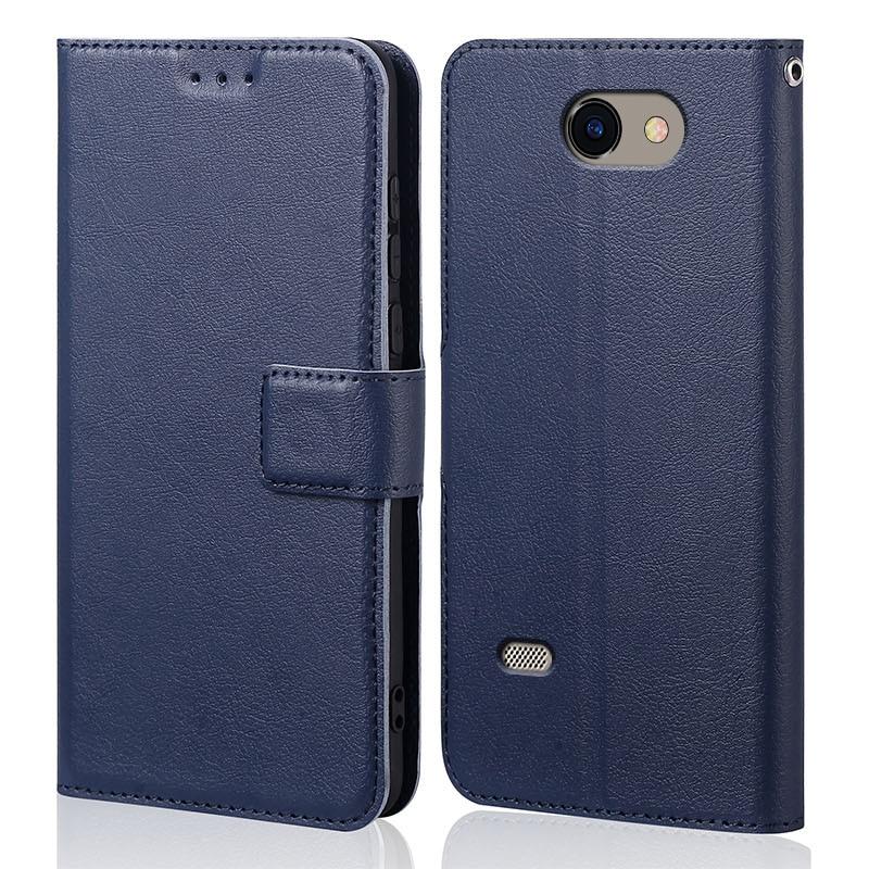Funda abatible de silicona para LG, bolsas de teléfono magnéticas de cuero...