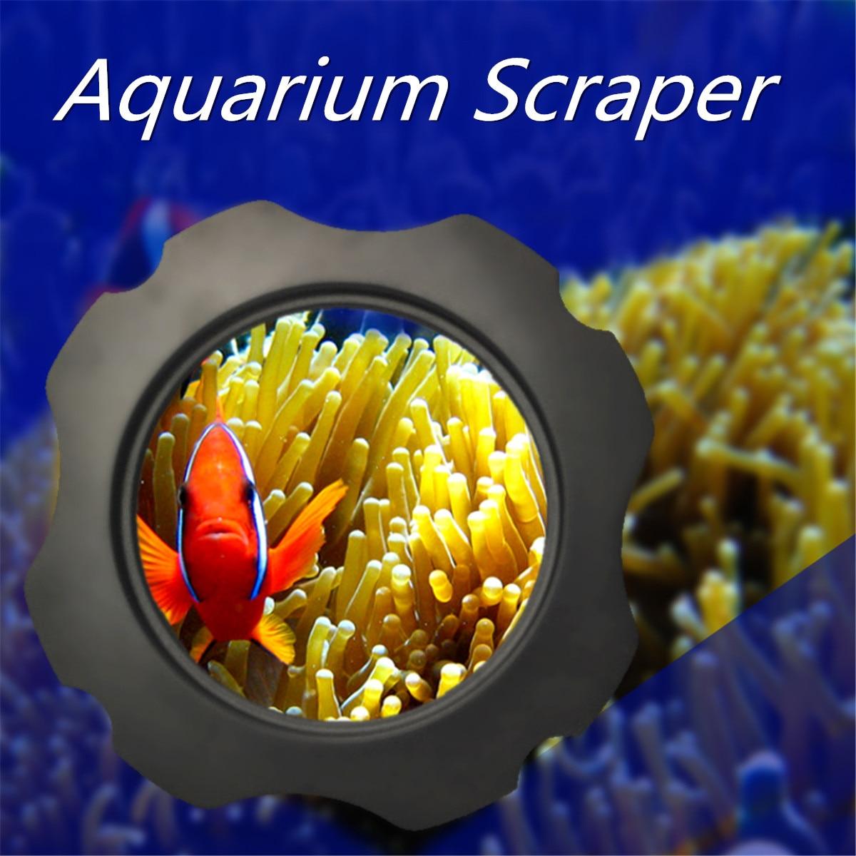 2 in 1 Aquarium Magnifier Magnetic Glass Cleaner Fish Tank Scraper ABS Durable Aquarium Scraper With Magnifying Glass Up to 15mm