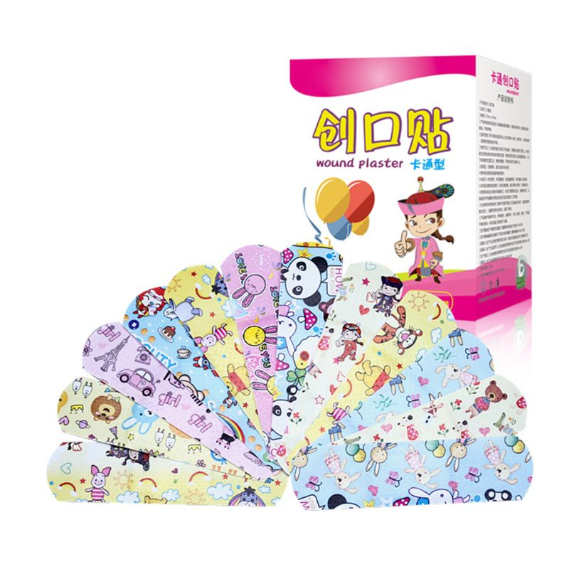 120 Uds banda de dibujos animados-aid lindo Mini vendaje transpirable para niños vendaje resistente al agua médico ok vendas hemostáticas parche adhesivo vendas