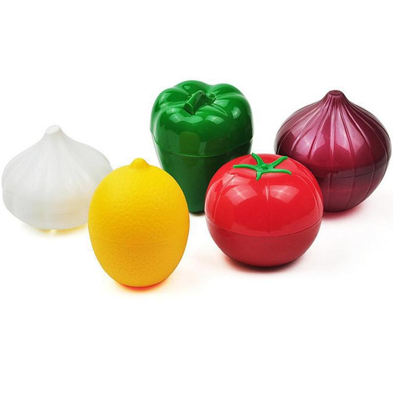 Caja para almacenamiento fresco cocina alimentos Crisper recipientes para verduras cebolla ajo aguacate tomates limón pimiento verde Envío Directo