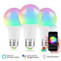 4 5W WiFi ampoule intelligente eclairage a la maison lampe LED ampoule reglable commande vocale travail avec Google Home Alexa Amazon maison intelligente