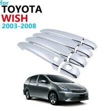 Ensemble de garniture de revêtement de poignée extérieur   Chromé luxueux, pour Toyota desire AE10 10 2003 ~ 2008, accessoires de voiture 2007 2006 2005 2004