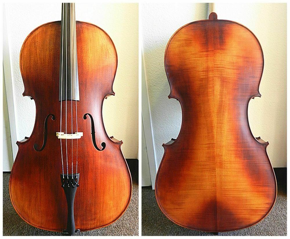 Violonchelo avanzado 4/4 de tamaño completo, violonchelo 100% hecho a mano 4/4, madera maciza