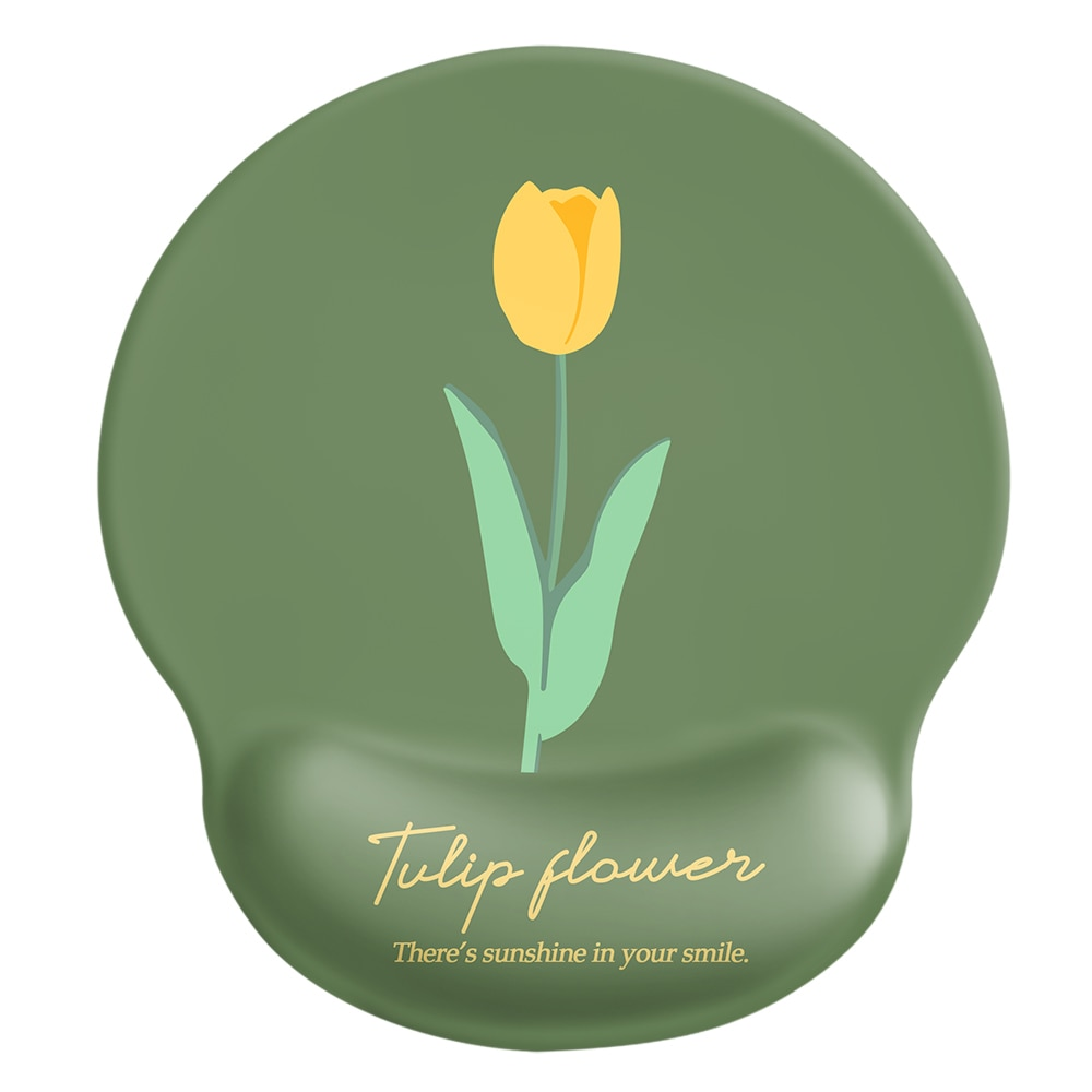 24x22x2cm  Silica Gel  Tulip Mouse Pad  Lovely Wind  Rest to Relieve Wrist Pressure