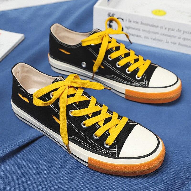 Nuevos zapatos de lona para hombre, zapatos transpirables para hombre, zapatos para estudiante de marea de Hong Kong, zapatos casuales de moda, zapatos de hombre