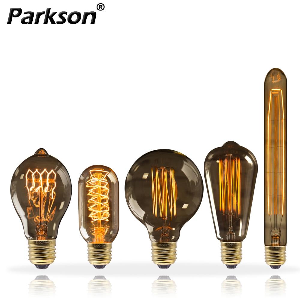Lámpara Retro Edison de 220V, Bombilla Vintage E27 de 40W para decoración...