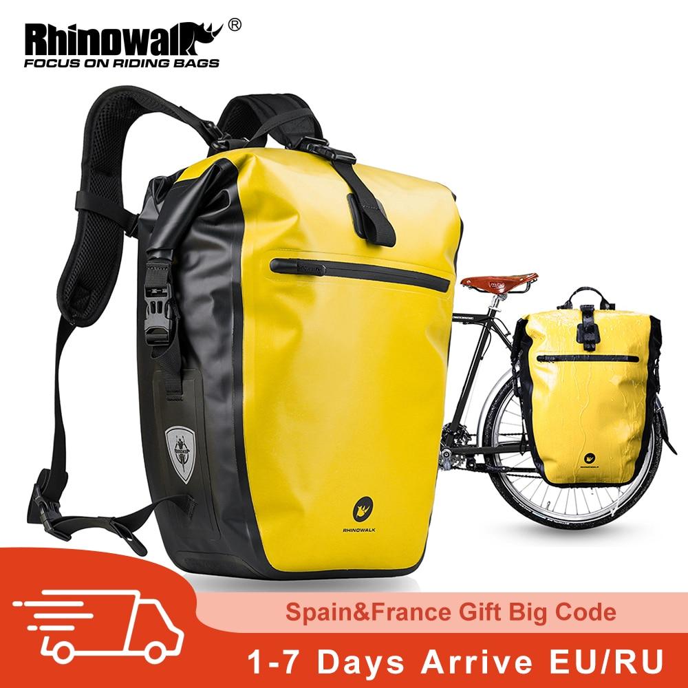 الكركدن دراجة حقيبة و السلة تماما مقاوم للماء 27L-30L عالية الدراجة حقيبة قدرة متعددة الوظائف الخلفية رف حقيبة بسلال الدراجات أكياس