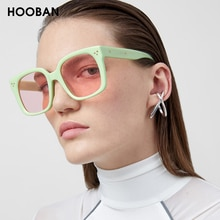 HOOBAN 2020 classique carré hommes femmes lunettes de soleil mode surdimensionné femmes lunettes de soleil élégant pilote lunettes UV400