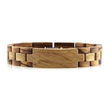 Livraison directe hommes brésilien mode bois bracelet bracelet personnalisé blanc plaine tous zèbre chêne bois poignet pulceras