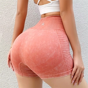 2021 Women High Waist Sports Shorts Gym Workout Leggings Summer Compression Running Yoga Shorts Breathable fitness Shorts