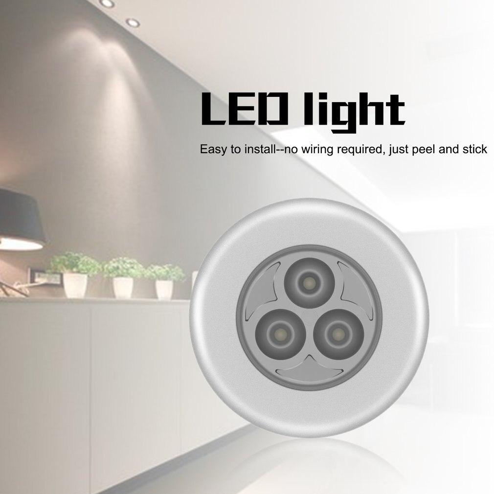 Novo batterij aangedreven wandlamp zelfklevende sem fio vara torneira kletingkast slaapkamer licht lâmpada auto plafond luzes da noite