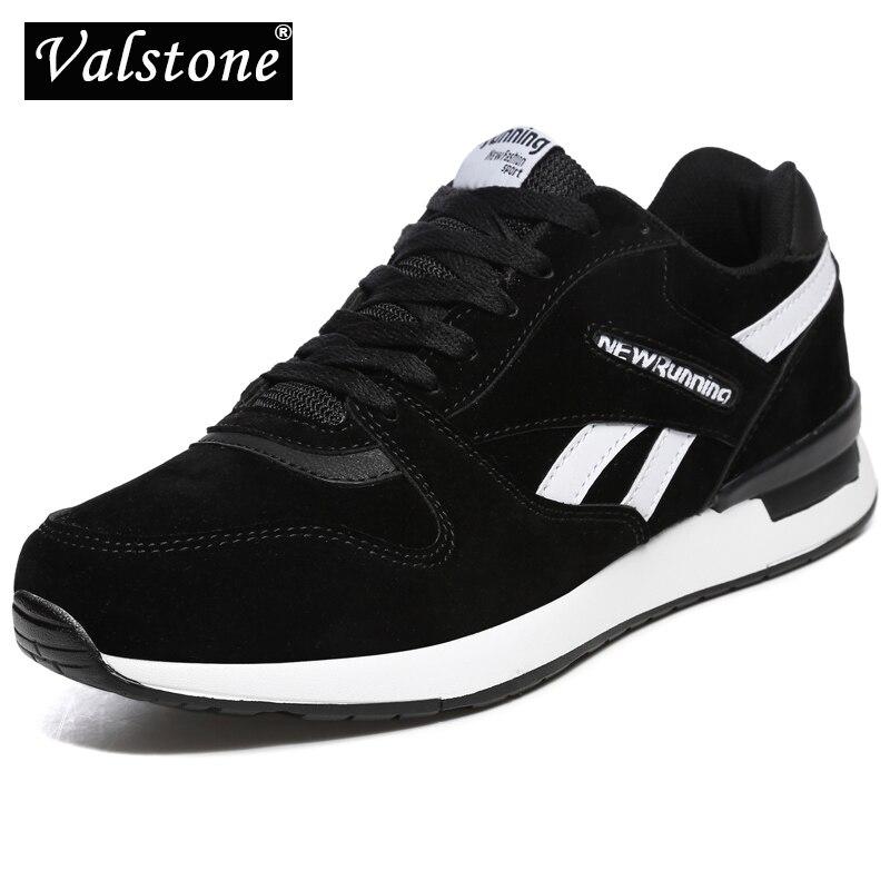 Valstone tênis de couro masculino unisex malha ar formadores casuais respirável sapatos caminhada ao ar livre leve antiderrapante à moda