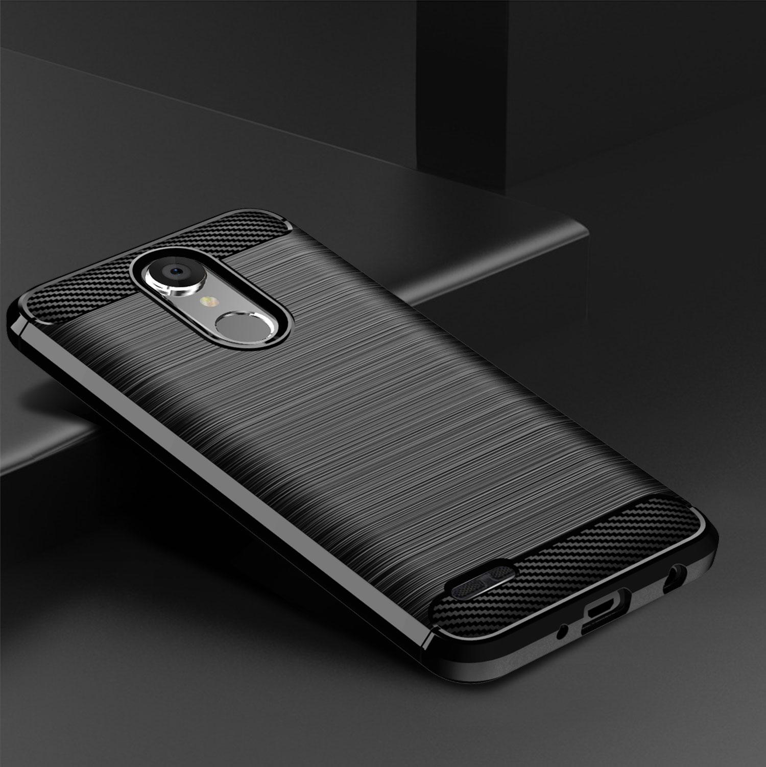 Caso para LG Stylo 6 5 4 G7 ThinQ G8 G6 más K51S K41S K40 K50 K8S G8X G8S Q70 K61 Q61 K31 K50S V60 de fibra de carbono de la cubierta de la caja del teléfono
