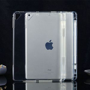 Case for ipad 10.2 2020 tpu pen slot transparent soft shell pro12.9 Air4 drop protection shell 9.7