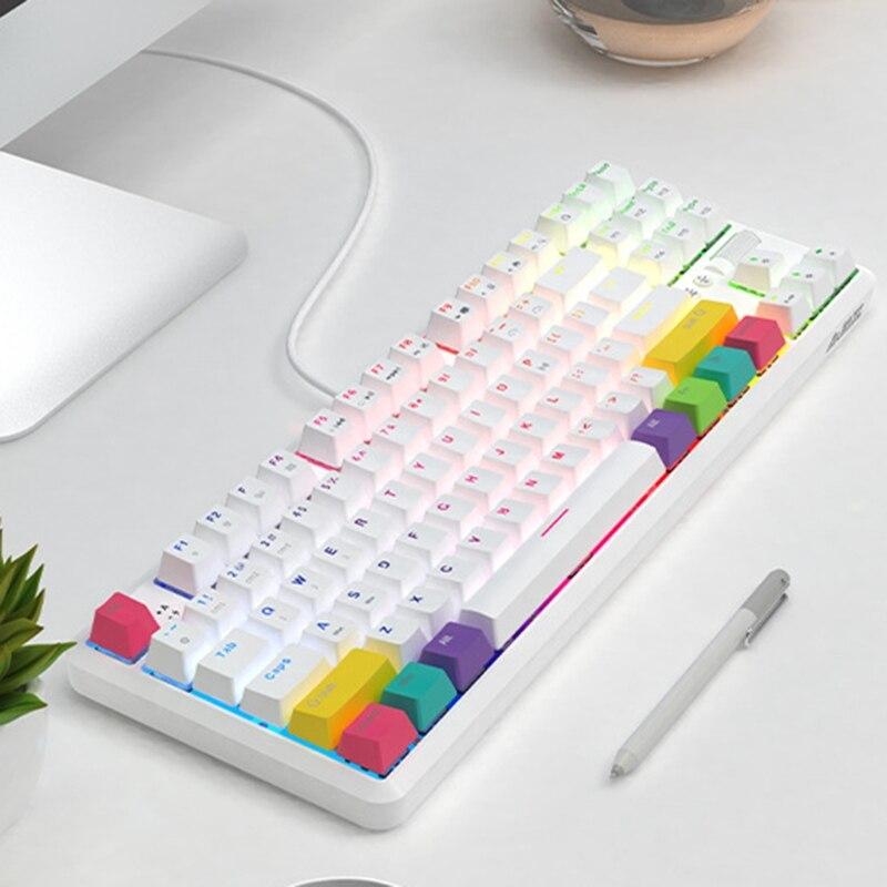لوحة مفاتيح ميكانيكية سلكية/لاسلكية 87 مفتاحًا لـ Ajazz K870T مع RGB