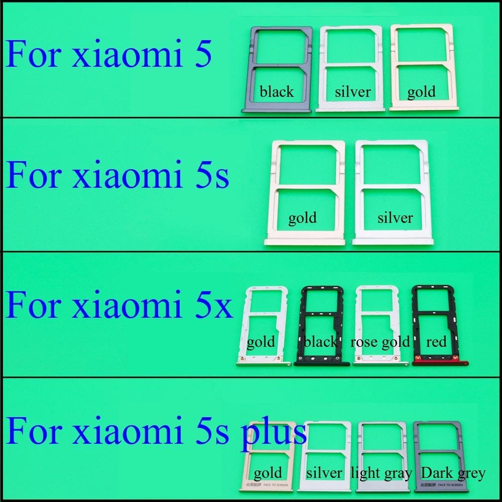 Bandeja de tarjeta Sim YuXi para Xiaomi Mi5 5S 5x 5S Plus Sim + ranura para tarjeta SD adaptador de piezas de repuesto