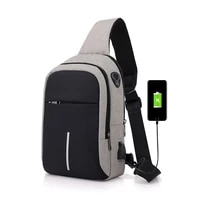 new fashion casual usb charging chest bag men shoulder pack outdoor sports running hiking travel crossbody bag