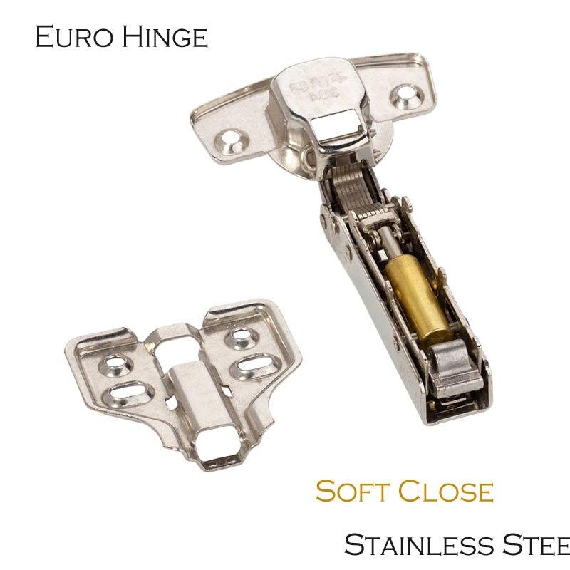 Bisagras para puertas de muebles, armarios, armarios, etc. Bomba hidrólica de acero inoxidable bisagra Euro de alta resistencia