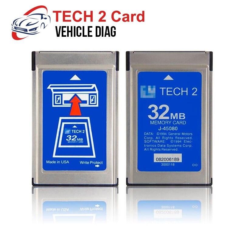 Para GM Tech 2 Scanner 32 MB Tarjeta de Software de memoria para Tech 2 escáner herramienta de diagnóstico de coche para Holden/Opel/GM/SAAB/ISUZU/Suzuki