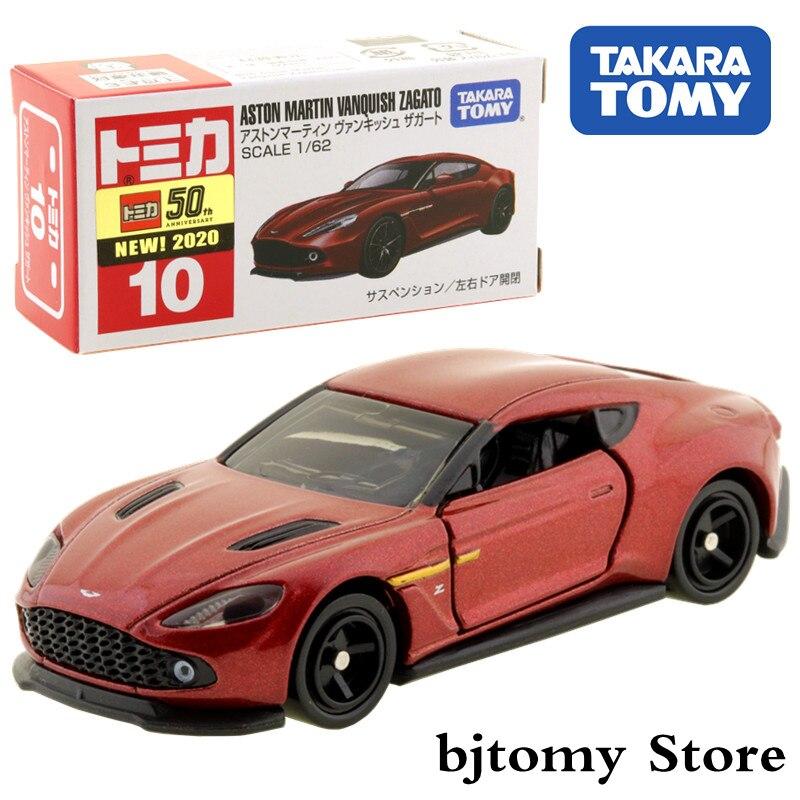 Takara Tomy Tomica No.10 Aston Martin Vanquish Zagato 1/62 Car Hot Pop Kids Toys Motor Vehicle Diecast Metal Model