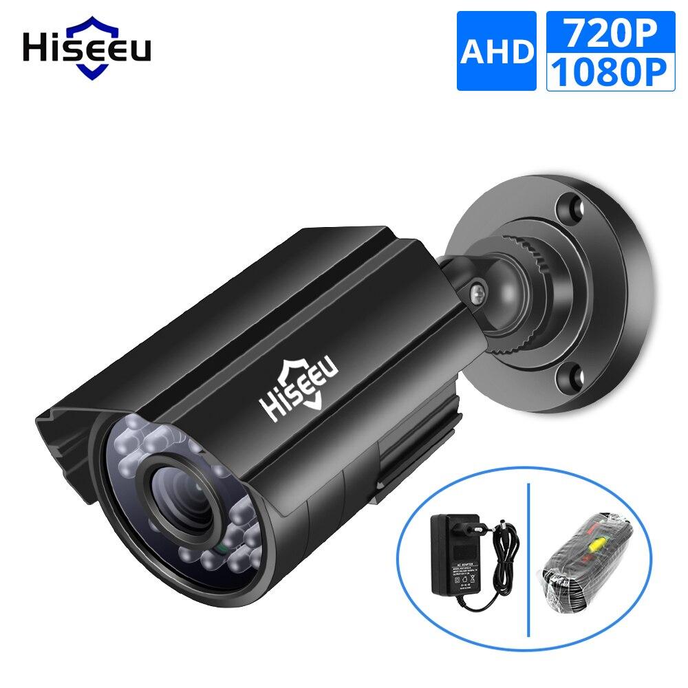 Cámara infrarroja analógica Hiseeu AHD de alta definición para videovigilancia 720P 1080P Cámara CCTV AHD cámaras de seguridad al aire libre