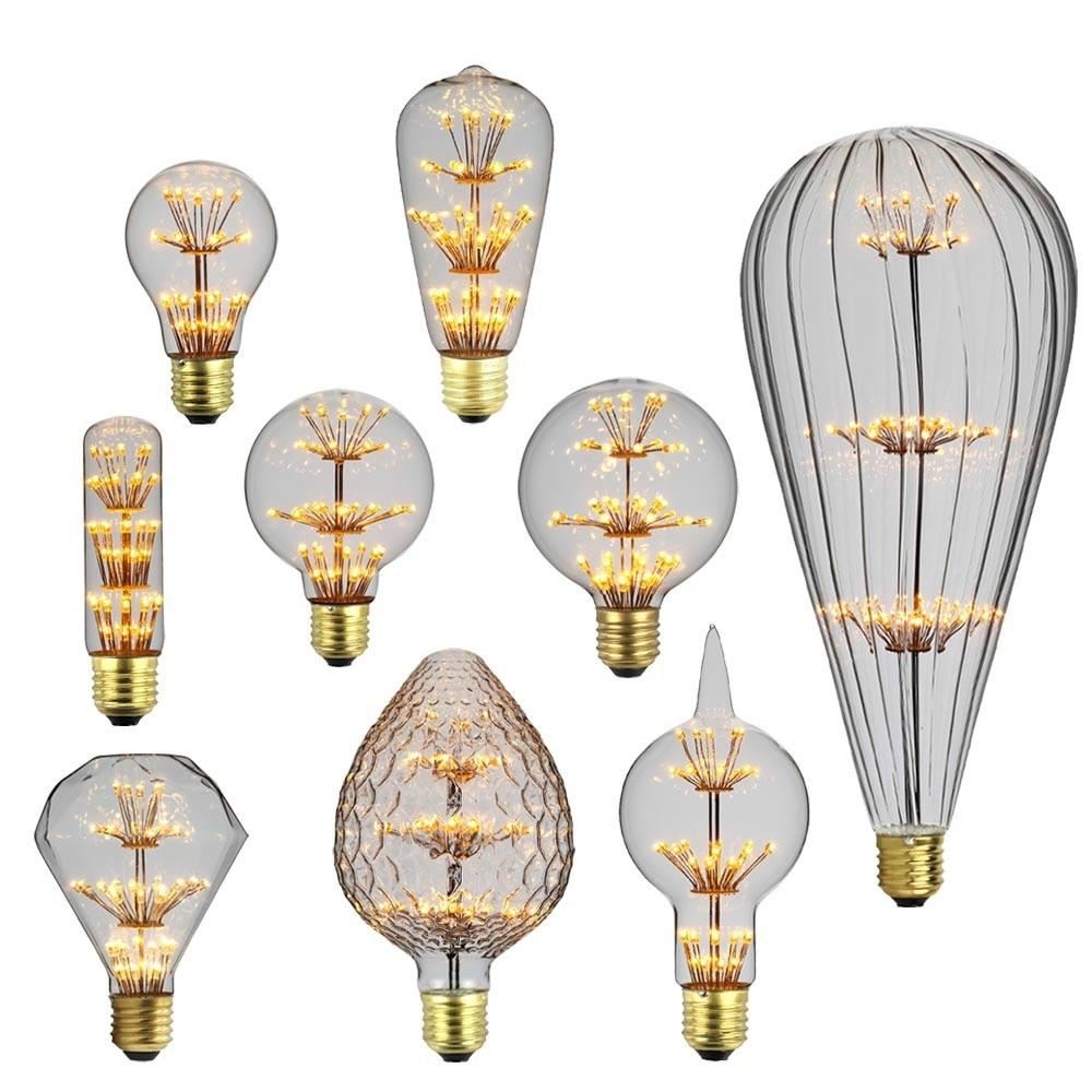 Toda a estrela bombillas edison lâmpada e27 2w 220v decoração industrial lampara retro lâmpada do vintage ampl bombillas