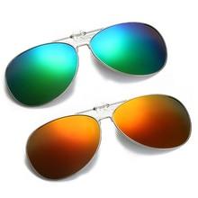 Oversized Pilot Clip on Sunglasses Driving Fishion Men Driving Polarized Alloy Aviation Big Women Gl