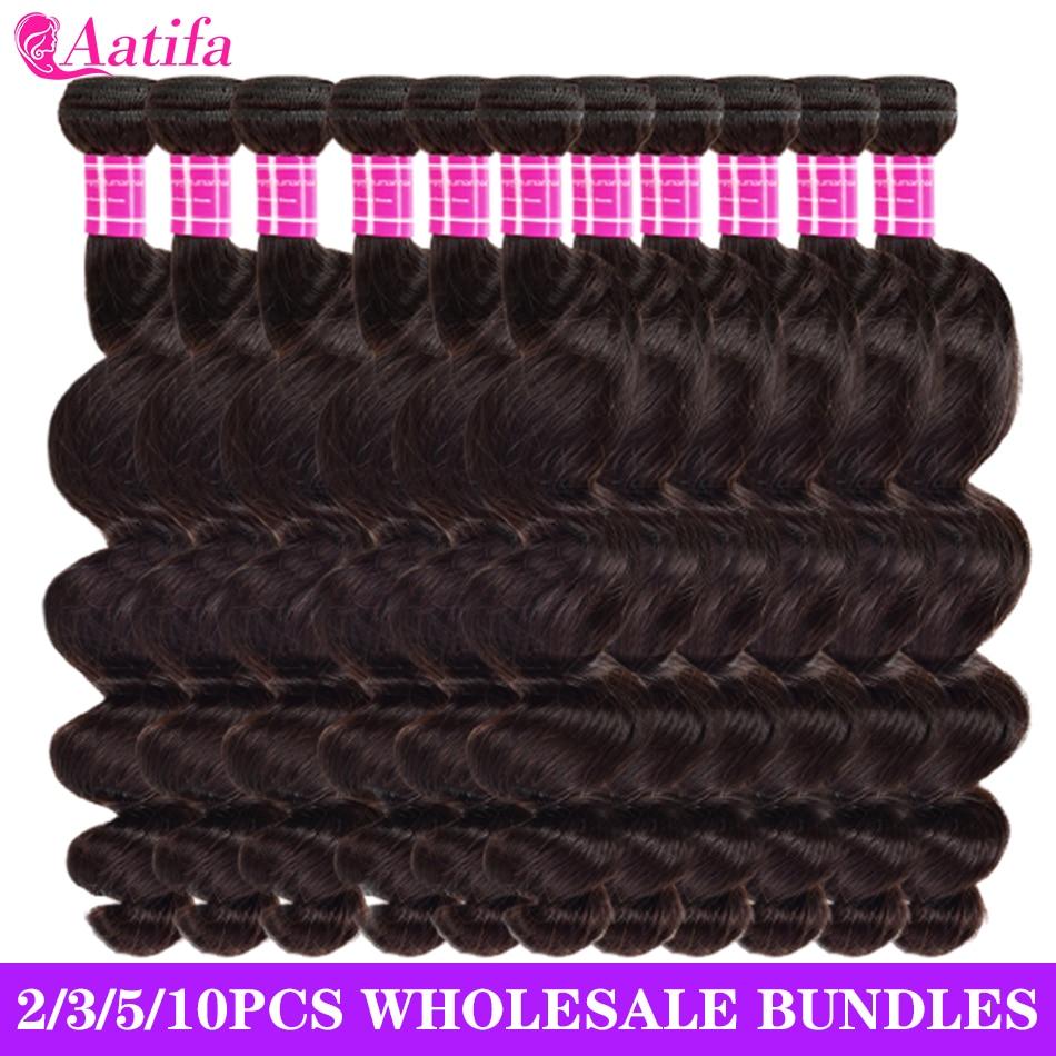 Loose Wave Bundles 100% Human Hair Extensions 2 3 4 5 10 Bundles/Pack Wholesale Price Brazilian Loos