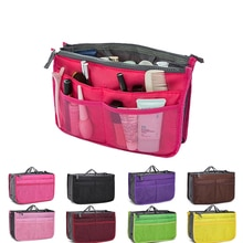 Women Double Zipper Makeup Bag Fashion Neceseries Tote Large  Cosmetic Bag Travel Insert Toiletry Ki