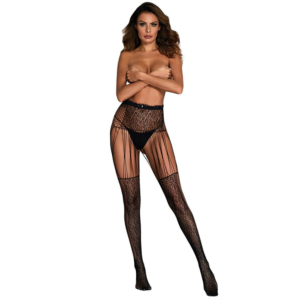 Mujeres adultas esqueleto de calavera de Halloween hueso estampado Pantyhose negro Jacquard leopardo Fishnet Hollow-out medias para señora