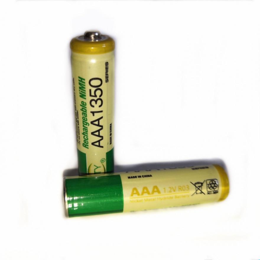 2 unids/lote 1,2 V AAA batería recargable de alta densidad de alta potencia 1350mAh AAA batería recargable NI-MH