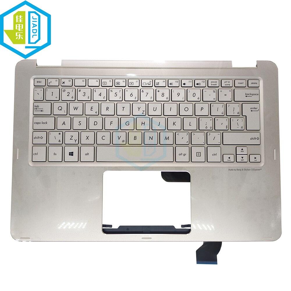 UX360 التشيكية سلوفاكيا دفتر لوحة المفاتيح لشركة آسوس zenbook UX360C UX360CA CS لوحات المفاتيح C شل غطاء 90NB0BA1-R31CS0 0KNB0-2127CS00