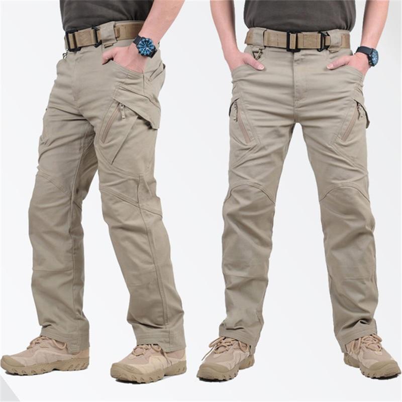 Брюки-карго IX9 мужские тактические, армейские штаны в стиле милитари, Стрейчевые хлопковые брюки с карманами, в стиле милитари, для пейнтбол...