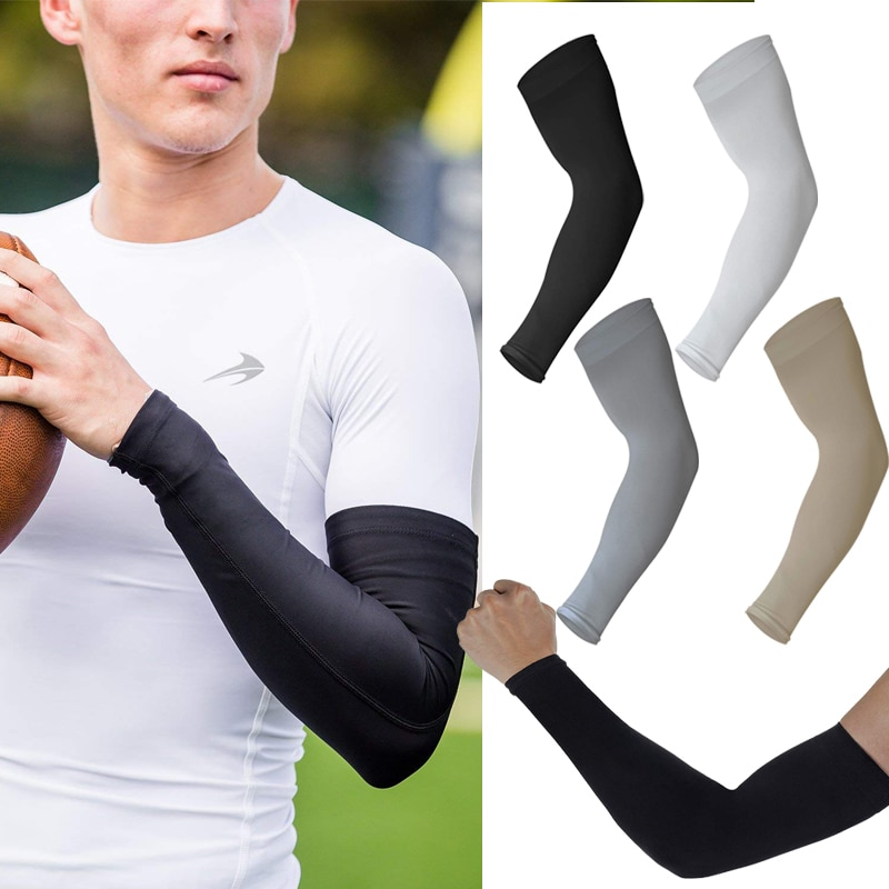 4 Pairs Uni Cooling Arm Sleeves Cover Cycling Running UV Sun Protection Outdoor Men Nylon Cool Arm Sleeves for Hide Tattoos