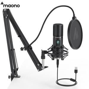 Профессиональный кардиоидный конденсаторный микрофон MAONO PM421, 192 кГц/24 бит
