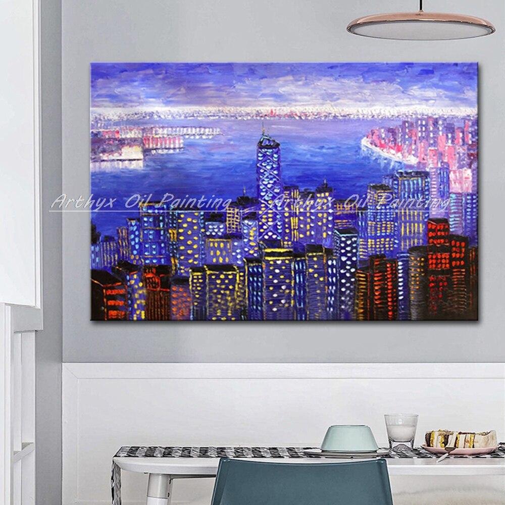 Arthyx, pintado a mano, paleta de Arnaud de Hong Kong Arnaud, pintura al óleo sobre lienzo, decoración moderna para el hogar, imagen artística de pared de salón
