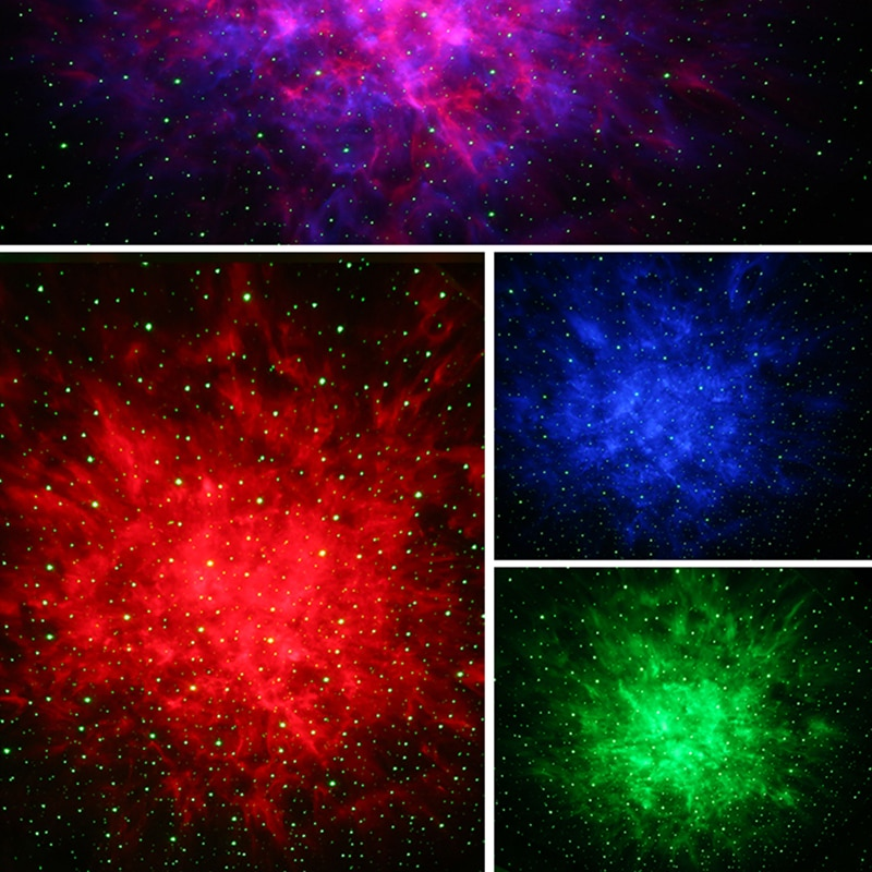 Colorful Night Light Starry Sky Galaxy Projector with Bluetooth Speaker Bedroom Remote Control Dimming Romantic LED Night Light enlarge