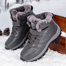 Nine o'clock Winter Couple Casual Boots Stylish Leather High-top Sneaker For Men Outdoor Quality War