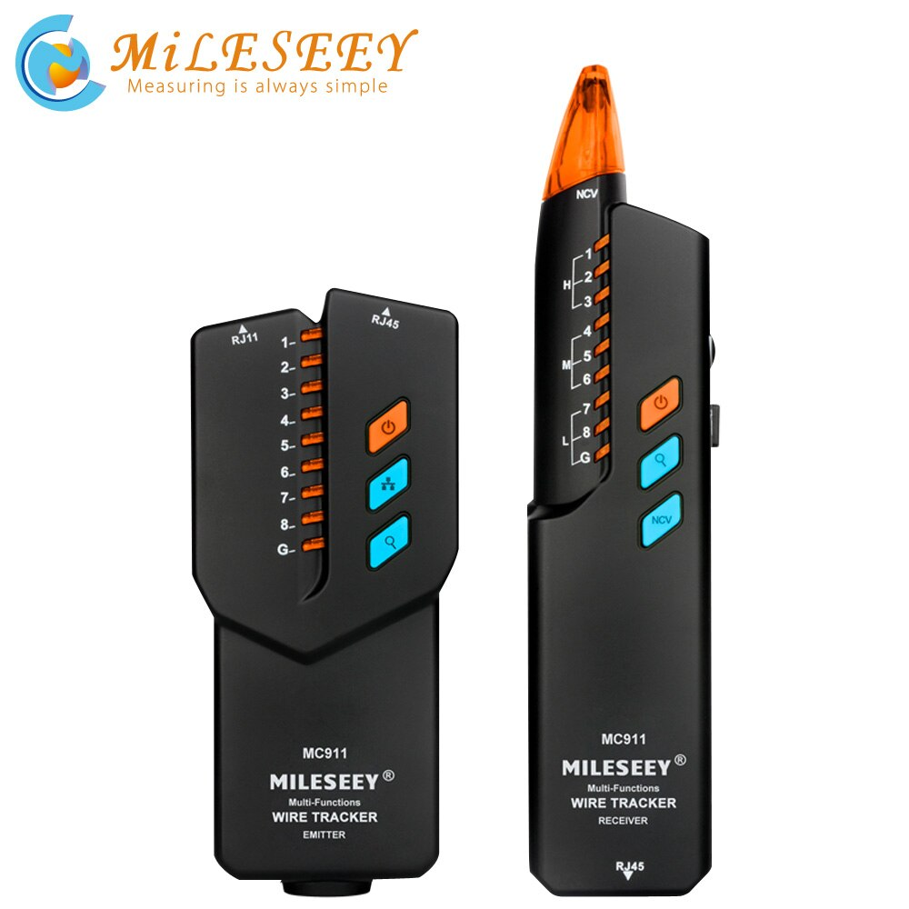 Rastreador de cables de red Mileseey MC911 rastreador de cables de teléfono tóner antiinterferencias Ethernet LAN Trace Cable de red