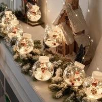 led curtain light santa claus snowman wishing ball christmas day shop shop window dress up christmas tree decor string lights