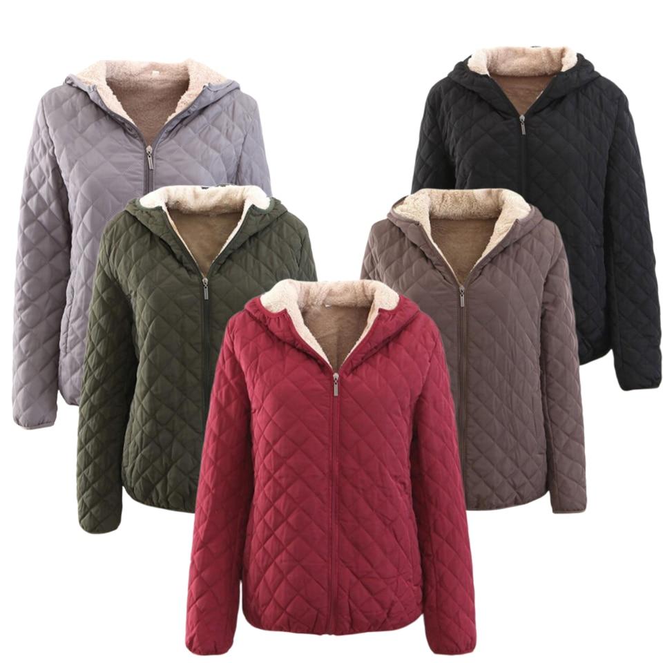 Vintage Parka Jacket Ultra Light Weight Women Winter Jacket Hooded Fur Liner Slim Fit Quilted Ladies Jackets Plus Size 3xl Parka