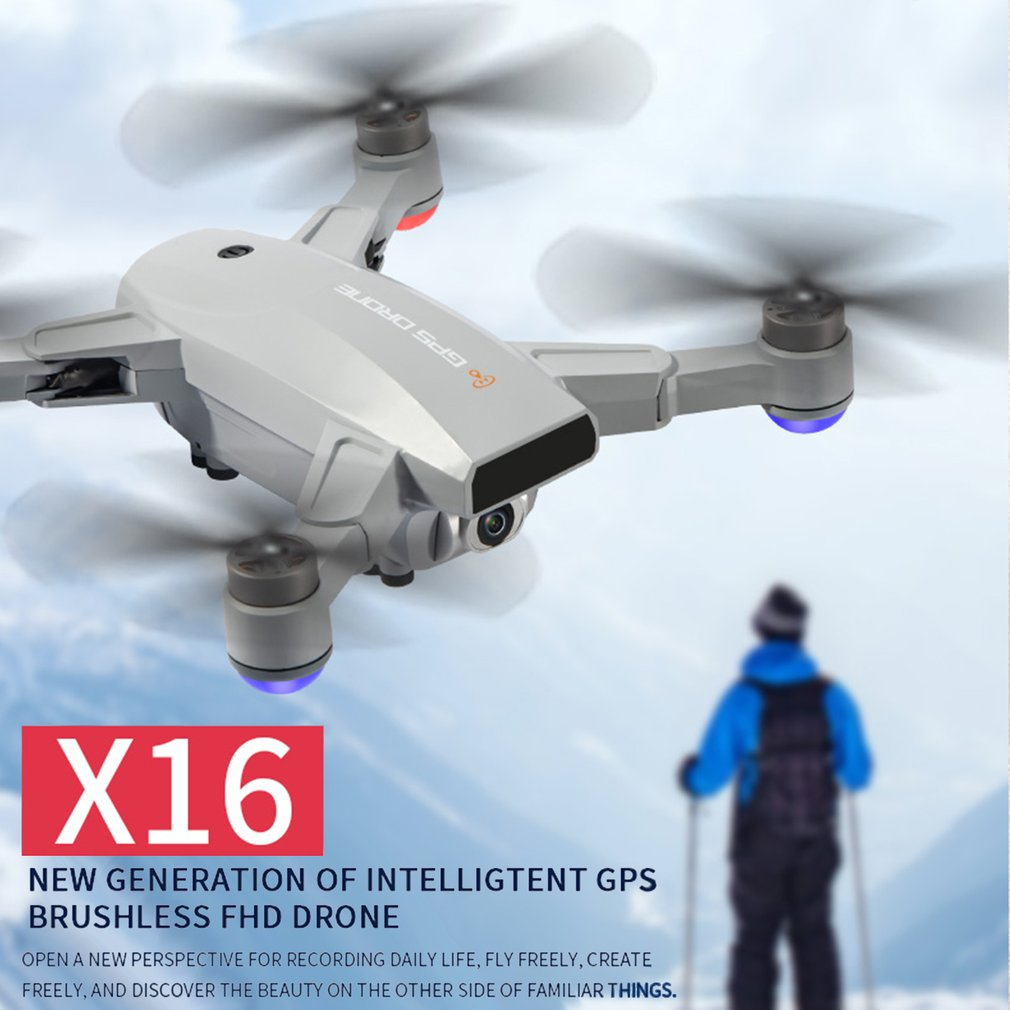 X16 5G WIFI FPV Dual GPS 6K HD Camera Optical Flow Positioning Brushless Foldable RC FPV Racing Drone Quadcopter RTF w/ Bag enlarge