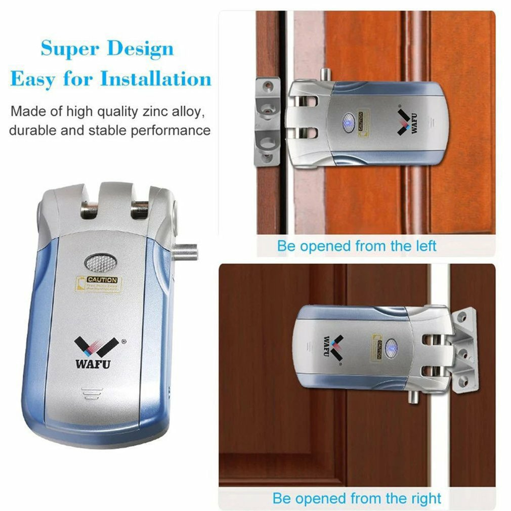 New Wireless Remote Control Electronic Lock Invisible Keyless Entry Door Lock 433mHZ Controllers Phone APP Control enlarge