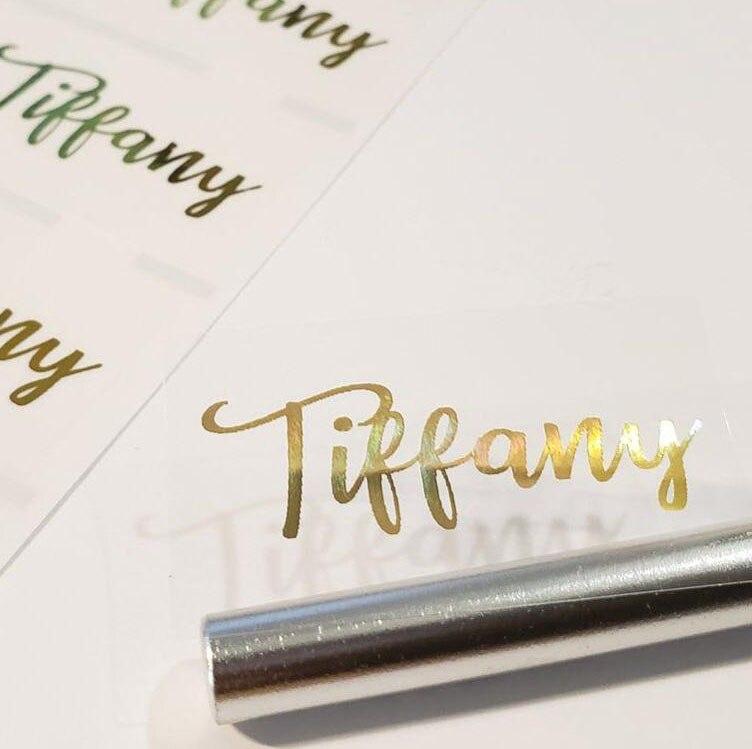 100 Uds hoja de oro personalizado de boda varita de burbuja, adhesivos para pestañas, lápiz labial bálsamo labial, dirección, tubos de brillo de labios etiquetas