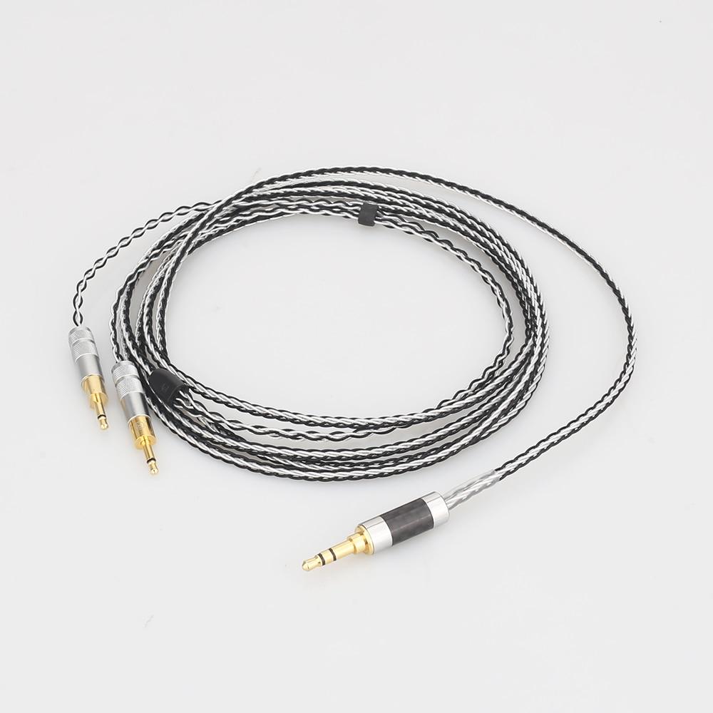 2,5/3,5/4,4mm balanceado 8 núcleo plateado auriculares Cable de actualización para HD700 HD 700 M1060 M1060c auricular